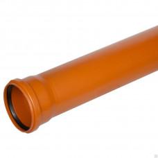 Труба канализационная раструбная 110*1000 (наружная)
