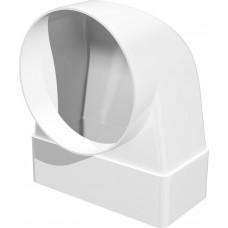 Соединитель угловой 90°, плоского воздуховода с круглым пластик, 60х120/D100 612СК10КП