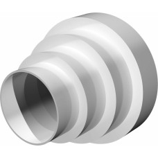 Соединитель универсальный круглых воздуховодов центральный пластик D150/125/100/80