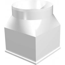 Соединитель центральный плоского воздуховода с круглым пластик 126х126/D125 2121CG12.5КП