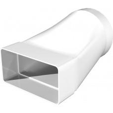 Соединитель эксцентриковый плоского воздуховода с круглым пластик, 60х120/D100 612СП10КП