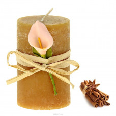 Свеча восковая Иней аромат корица 907685