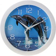 Часы настенные П-Б8-193 Дельфины