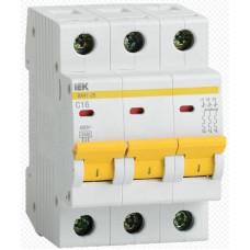 Выключатель автоматический трехполюсной 10А С ВА 47-29 4,5 кА