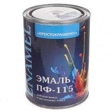 Эмаль Простокрашено ПФ-115 черная 0,9кг