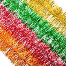 Мишура 10*160см ПВХ 4 цв. Красный, золото, медь, зеленый СНОУ БУМ
