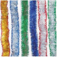 Мишура 2м Волна 2-х цветная цвета в ассорт.