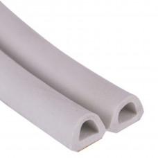 Уплотнитель тип D 25м 12*10мм белый двойной 1м