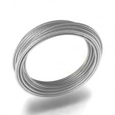 Трос металлический в изоляции ПВХ d-1/2*1м
