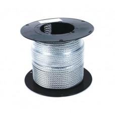 Трос металлический в изоляции ПВХ d-3/4, бухта 200м