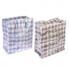 Сумка хозяйственная, нетканый материал, 55x65x30см, Клетка, 2 цвета