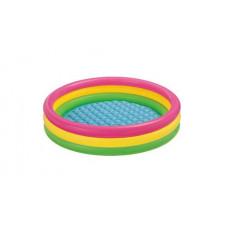Бассейн детский Цветные кольца 114*25см, от 2х лет, INTEX