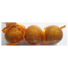 Шар мерцающие PGB-033-0 оранжевые,6см ,3шт в ПВХ упак 102128