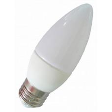 Лампа светодиодная ПРОГРЕСС Standart Свеча С37 5W Е27 Белый свет (1*100)
