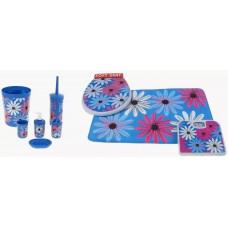 Наборы для ванной  Большие цветы9 предметов 861267