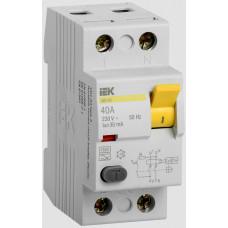 Выключатель дифференциального тока (УЗО) 2п ВД1-63 40А 30мА
