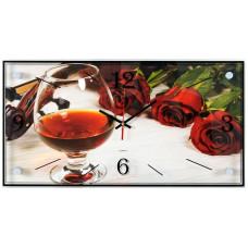 Часы настенные Коньяк и розы 21Bek