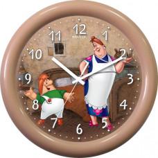 Часы настенные П-3Б2.2-710 Фрекен и Карлсон