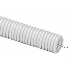 Труба гофрированная ПВХ 50мм с протяжкой серая (15м)