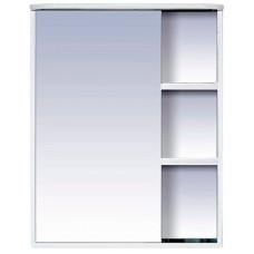 Шкаф-зеркало Венера-60 L левое, свет, белый