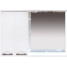 Шкаф-зеркало левый Куба-120 (свет)