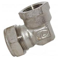 Угольник для нержавеющей трубы 20*3/4 внутр.резьба Никель Lavita