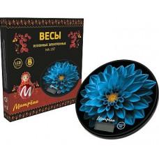 Весы кухонные электронные МАТРЁНА МА-197, 7 кг, голубой цветок