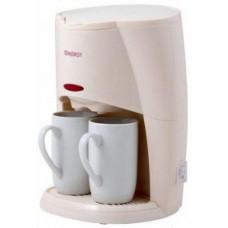 Кофеварка ENERGY EN-601 кремовая, 450 Вт, 2 чашки