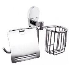 Держатель для освежителя и туалетной бумаги с крышкой POTATO