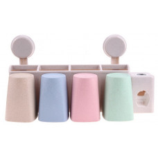 Держатель для зубных щеток и пасты на вакуумных присосках POTATO (3 стакана)