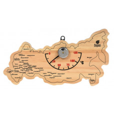 Термометр Карта России 22х11х2,5 см для бани и сауны Банные штучки