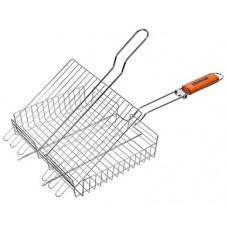 Решетка-гриль универсальная, картонный веер в подарок, 62( 5)x30x25x5,5 cм BOYSCOUT
