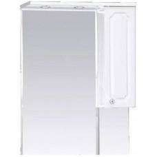 Шкаф-зеркало правый Александра-65 (свет), бел.мет.