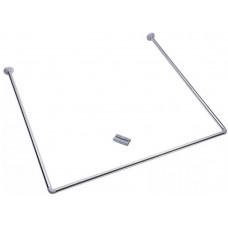 Карниз для ванны VETTA 90x90x90см, нерж.сталь