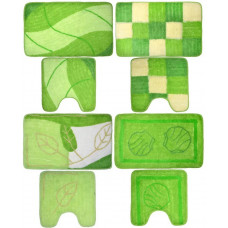 Набор коврик для ванны VETTA акрил, 50x80см   50x50см, зелёный 4 дизайна