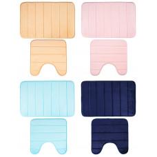 Набор коврик для ванны VETTA фланель, 45x70см   45x45см, Нежность, 4 цвета