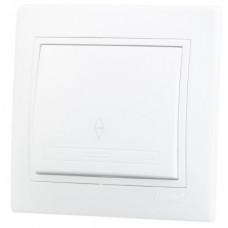 Выключатель Мира Lezard СУ 1кл. 10А бел. (корпус PC) 701-0202-100