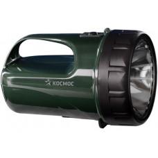 Фонарь-прожектор КОСМОС 9199LED (акк. 4V 3Ah) 12св/д (250lm) зелен.пласт., индикатор заряд.